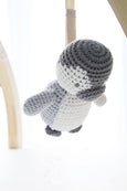 Blanco Penguin Crochet Rattle