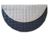 Natural/Navy Round Play Mat