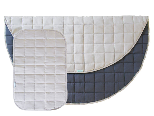 Natural/Navy Change + Play Mat Set
