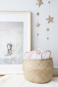 Written In The Stars Nappy Clutch - Light Pink With Blush Leather Adornment