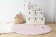 Written In The Stars Play Mat - Blush Pink With Star Screen Print (Small Imperfection)