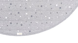 Written In The Stars Play Mat - Grey Marl With Star Screen Print