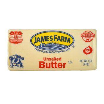 Butter, Unsalted - James Farm - Pepper Pantry