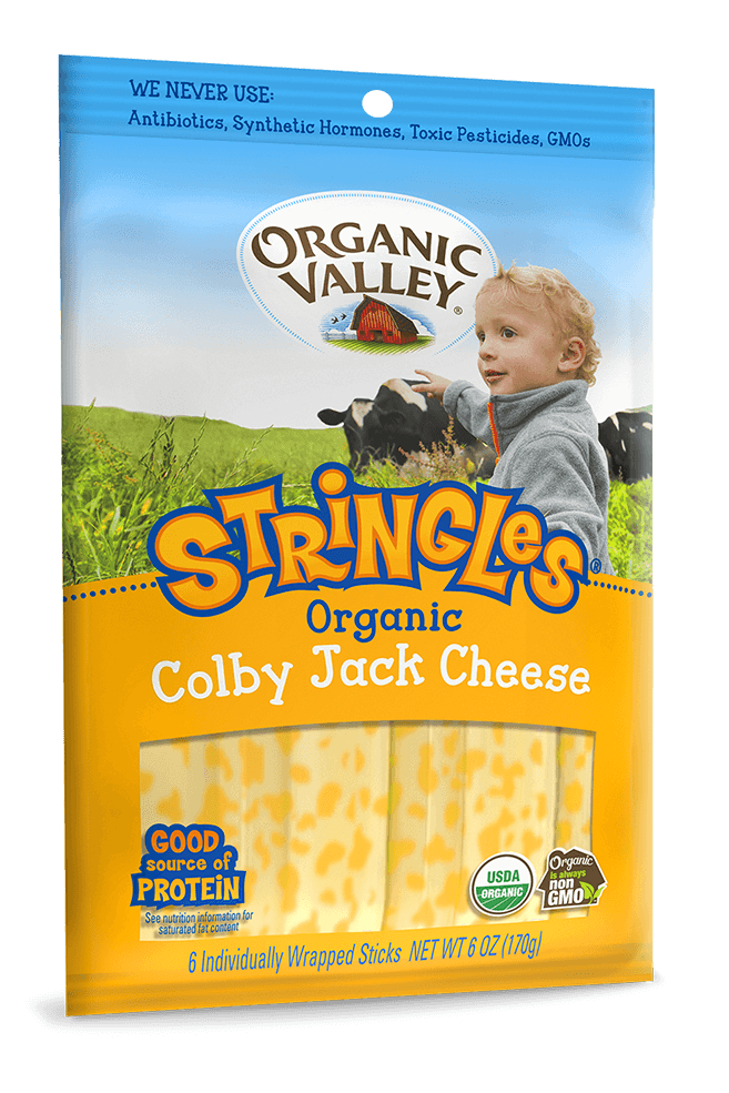 Organic Valley Stringles Colby Jack - 6 oz - Pepper Pantry