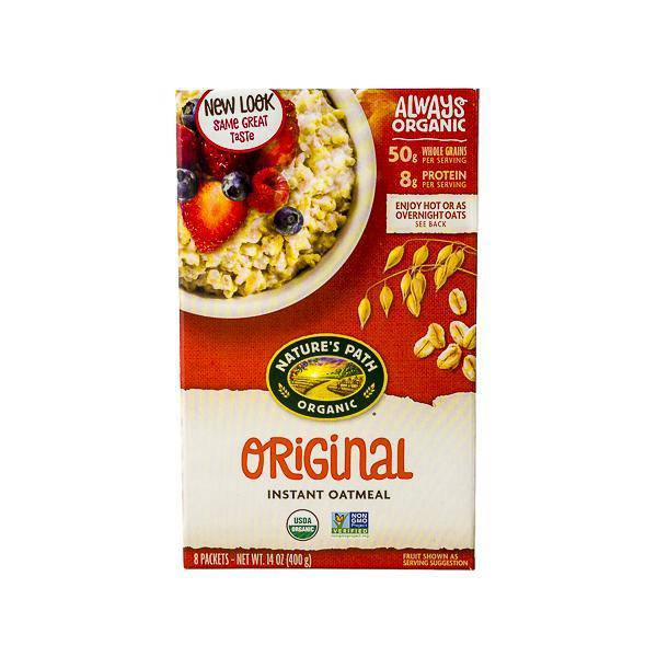 Oatmeal, Nature's Path Organic Original Box of 8 Pouches - Pepper Pantry
