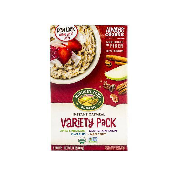 Oatmeal, Nature's Path Organic Variety Box of 6 Pouches - Pepper Pantry