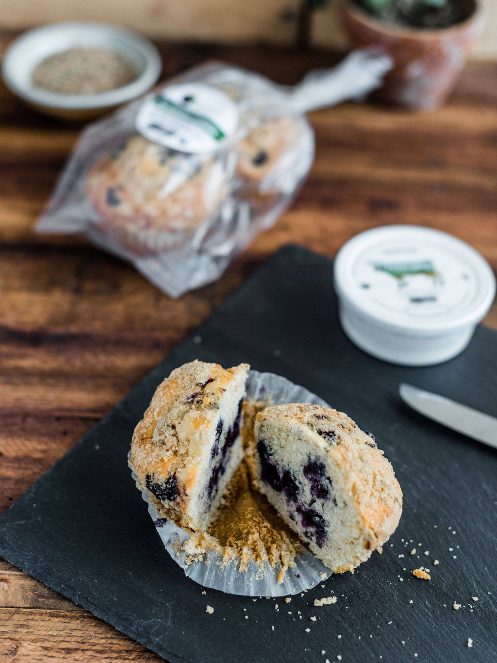 Blueberry Crumb Muffin - Single - Pepper Pantry
