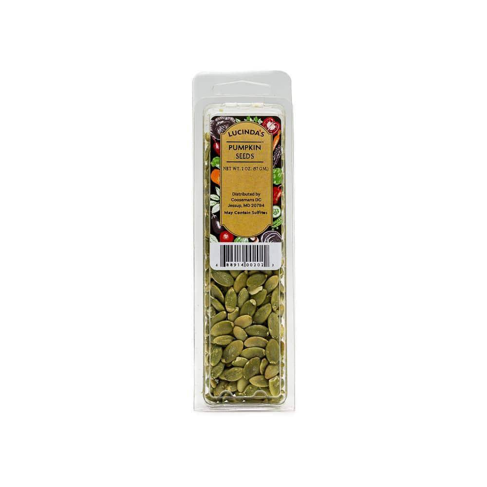 Pumpkin Seeds Raw 2 oz. Clamshell - Pepper Pantry