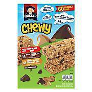 Quaker Chewy Assorted Granola Bars 60 Count - Pepper Pantry