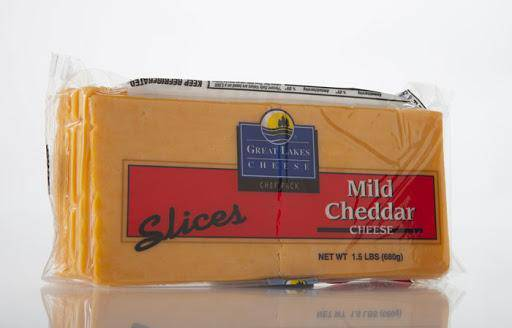 Sliced Mild Cheddar Cheese - 1.5 lb - Pepper Pantry