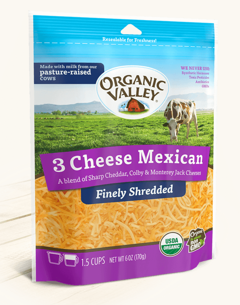 Organic Valley Shredded Mexican Cheese - Pepper Pantry