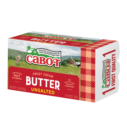 Cabot Unsalted Butter - 1 lb - Pepper Pantry