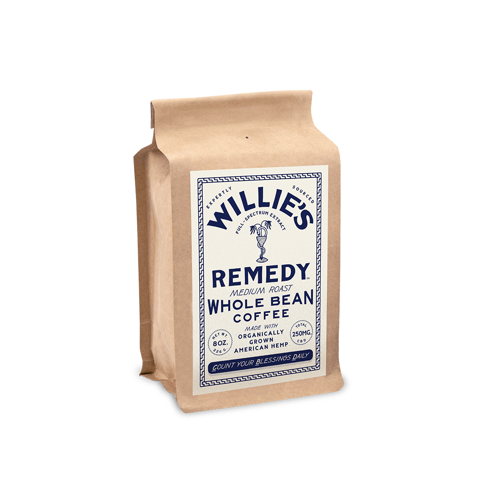 Willie Nelson's CBD Coffee - Medium Blend - Whole Bean Coffee - 8 oz. - Pepper Pantry