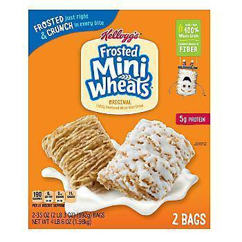 Kellogg's Frosted Mini Wheats 70 Oz - Pepper Pantry