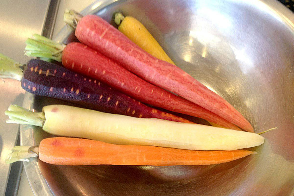Carrots, Organic Rainbow Peeled - Pepper Pantry
