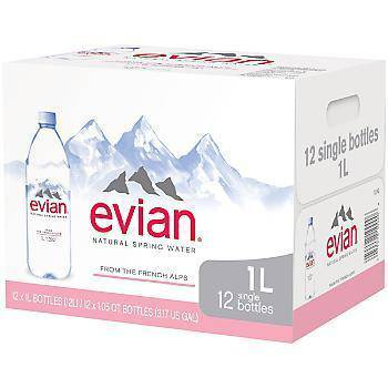 Evian Water - 1 Liter - Pepper Pantry