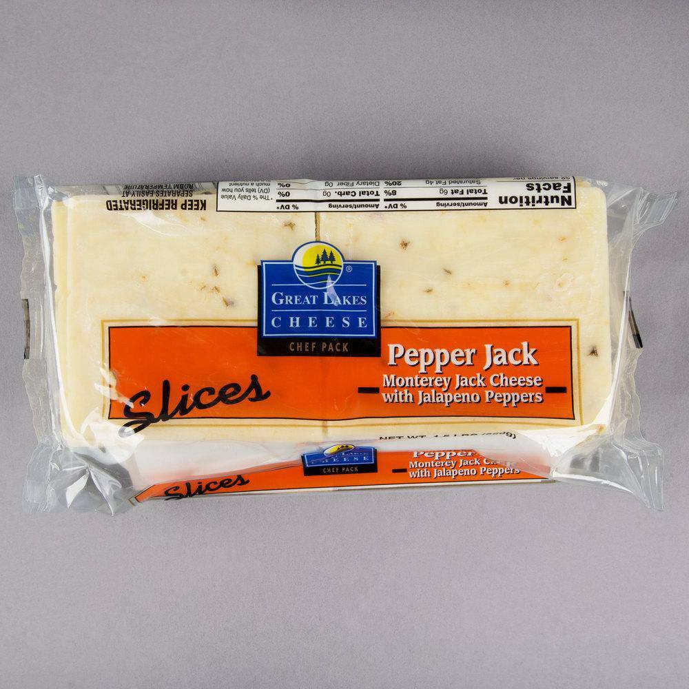 Cheese-Pepper Jack Sliced-1.5lb Per Pack - Pepper Pantry