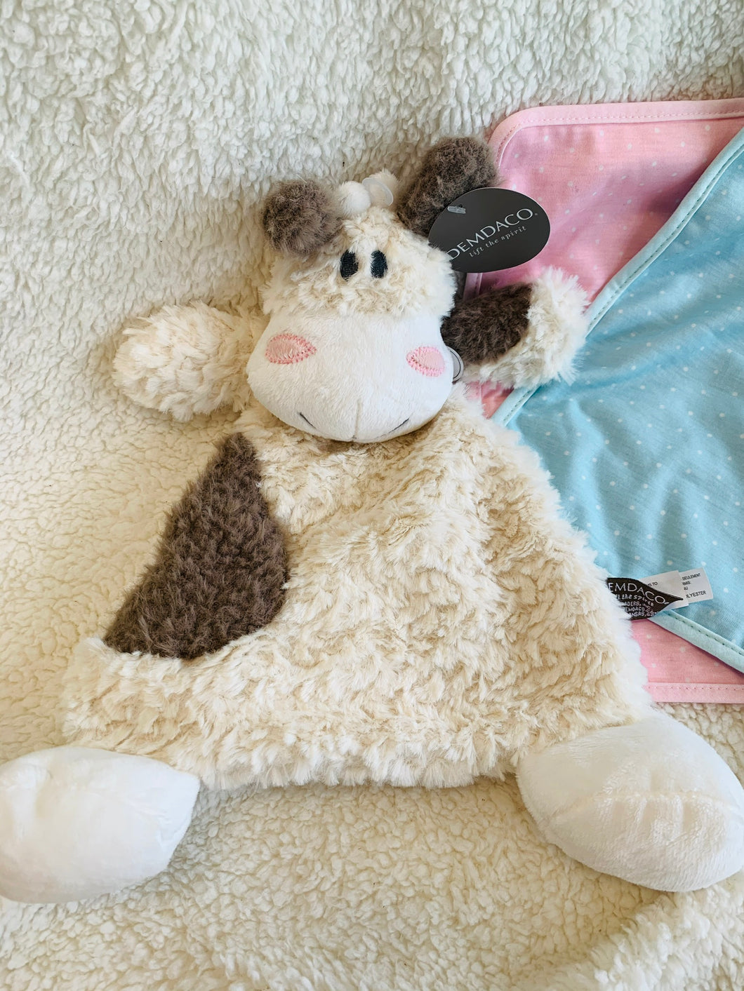Moozer Cow Rattle Blankie