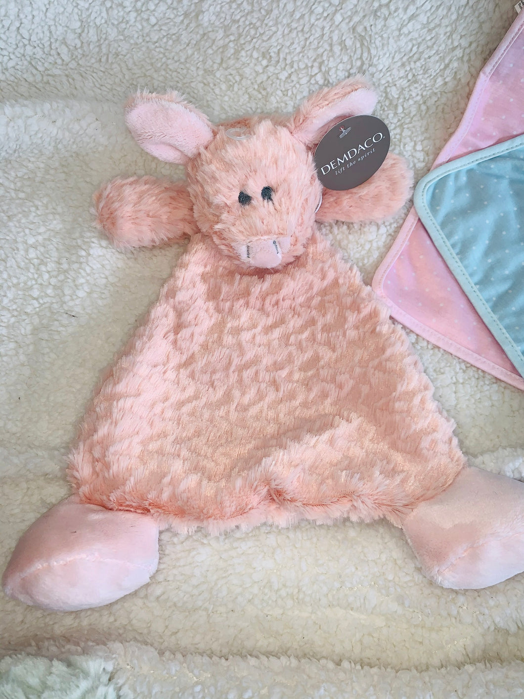 Pudder Pig Rattle Blankie