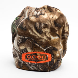 Orion Camo Winter Hat with Blaze Orange Logo