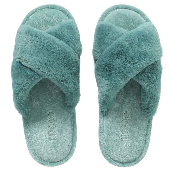 KIP & CO Slippers - Jade Green