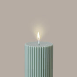 Black Blaze - Wide Column Pillar Candle - Eucalyptus