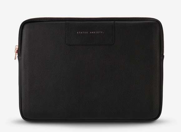 Status Anxiety - Before I leave laptop case - Black/Rose Gold