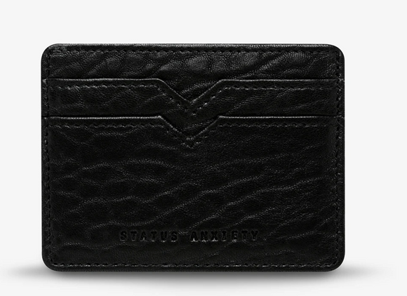 Status Anxiety - Together For Now Wallet - Black Bubble