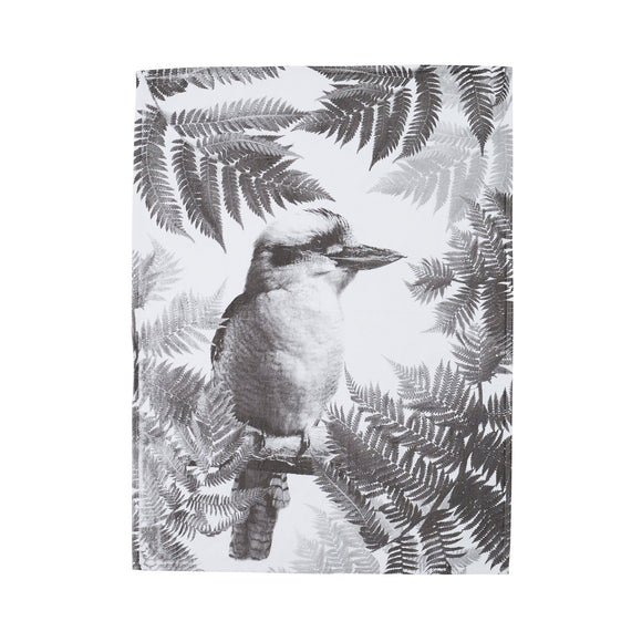 Bonnie and Neil Teatowel | Kooka Fern Black