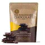 The Remarkable Chocolate Co - Organic Chocolate Bark - Ginger & Salted Caramel
