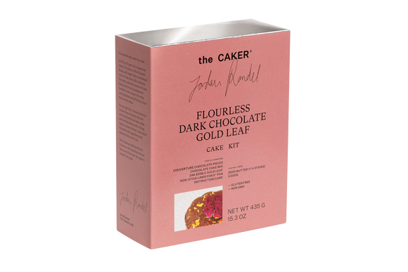 The Caker - Flourless Dark Chocolate Gold Leaf Cake Kit