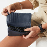 Status Anxiety - Audrey Wallet - Navy Pebble