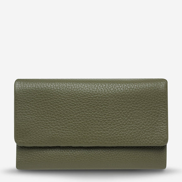 Status Anxiety - Audrey Wallet -Khaki Pebble