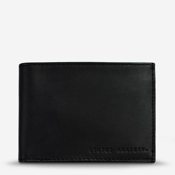 Status Anxiety - Noah Tri-Fold Wallet - Black