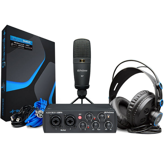 PreSonus AudioBox USB96 Interface Recording Package