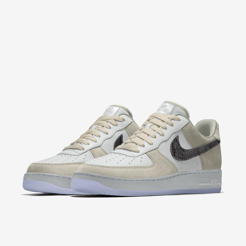 NIKE AIR FORCE 1 LOW PREMIUM (CUSTOM) TAN/WHITE