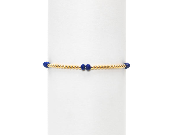 2MM LAPIS BEAD BRACELET
