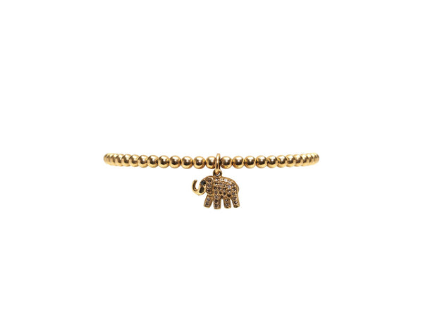 3MM DIAMOND ELEPHANT CHARM BRACELET