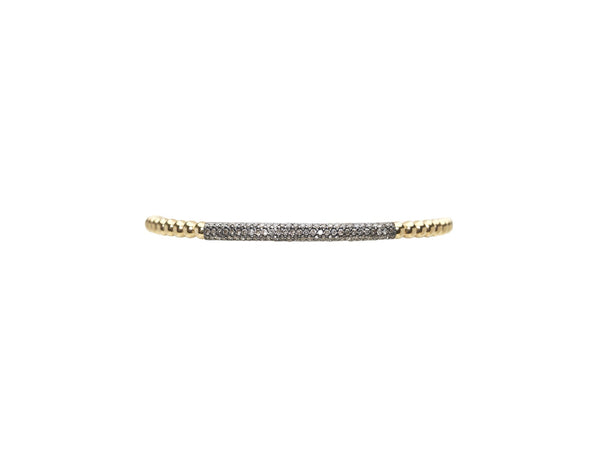 3MM OXIDIZED DIAMOND BAR BEAD BRACELET