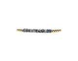 4MM SILVERITE BAR BEAD BRACELET