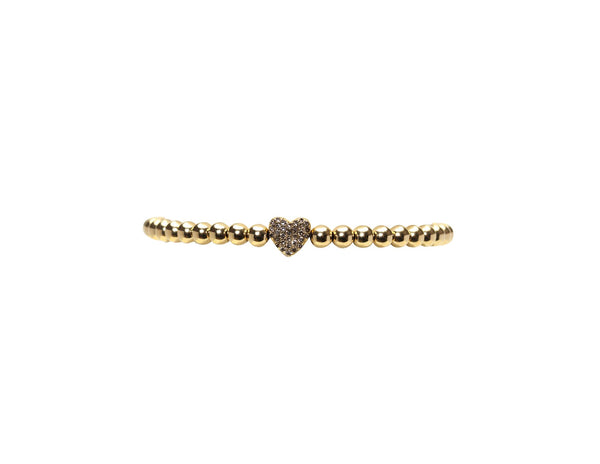 4MM DIAMOND HEART BRACELET