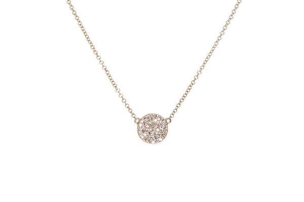 LARGE DIAMOND DISC NECKLACE
