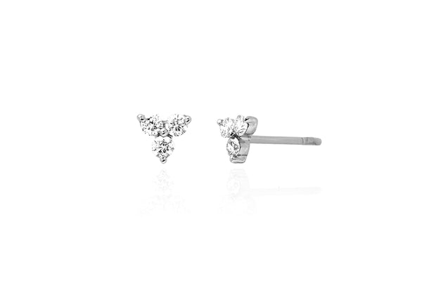 DIAMOND TRIO STUD EARRINGS