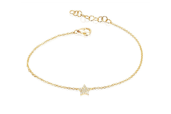 DIAMOND STAR CHAIN BRACELET