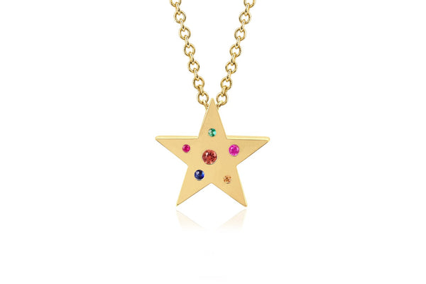 MINI RAINBOW SPECKLED STAR NECKLACE