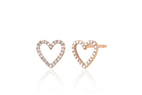 OPEN HEART STUD EARRING