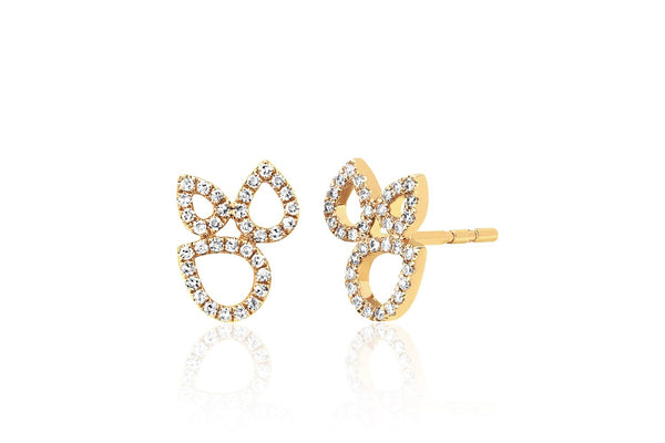 OPEN TEARDROP CLUSTER STUD EARRINGS