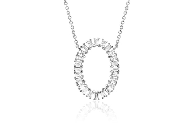 JUMBO OVAL BAGUETTE DIAMOND NECKLACE