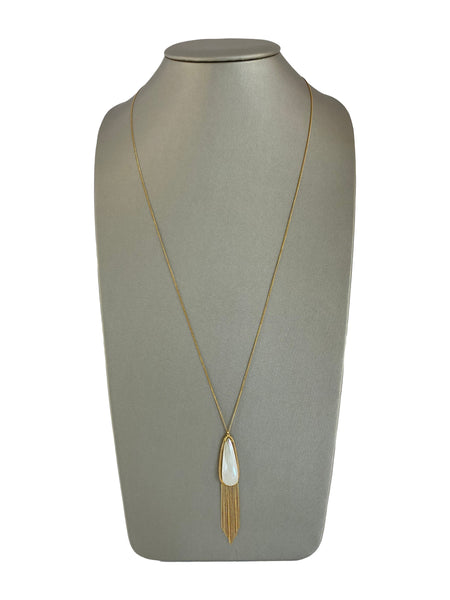 CHALCEDONY FRINGE NECKLACE