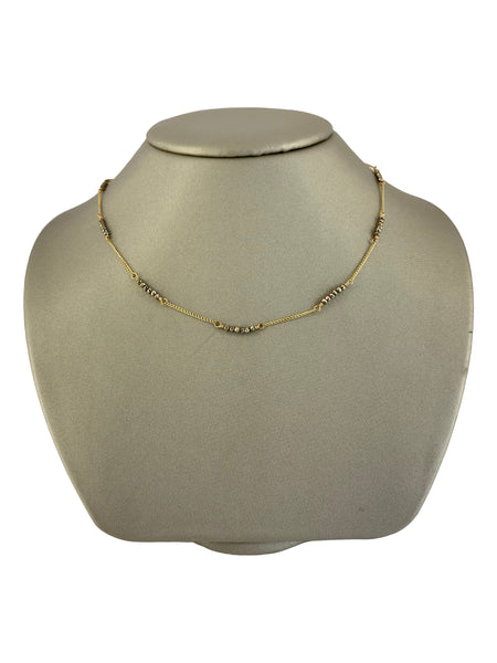 SILVER PYRITE CHOKER NECKLACE